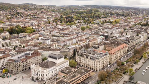 Outside Aerial View of the Westpoint Film Production Office in Zurich