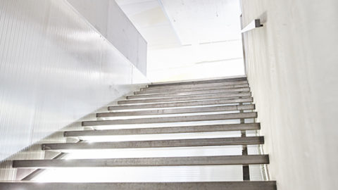View of the Stairs in Westpoint Film Production Office in Zurich