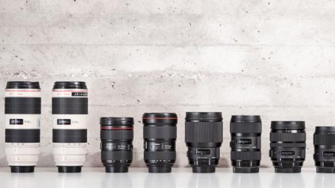 8 Canon Lenses in a Row