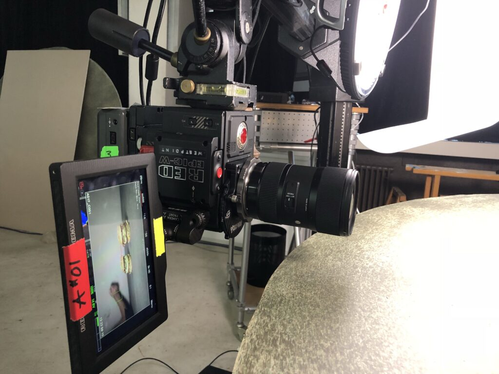 Filming the BigMac with a upside-down setup