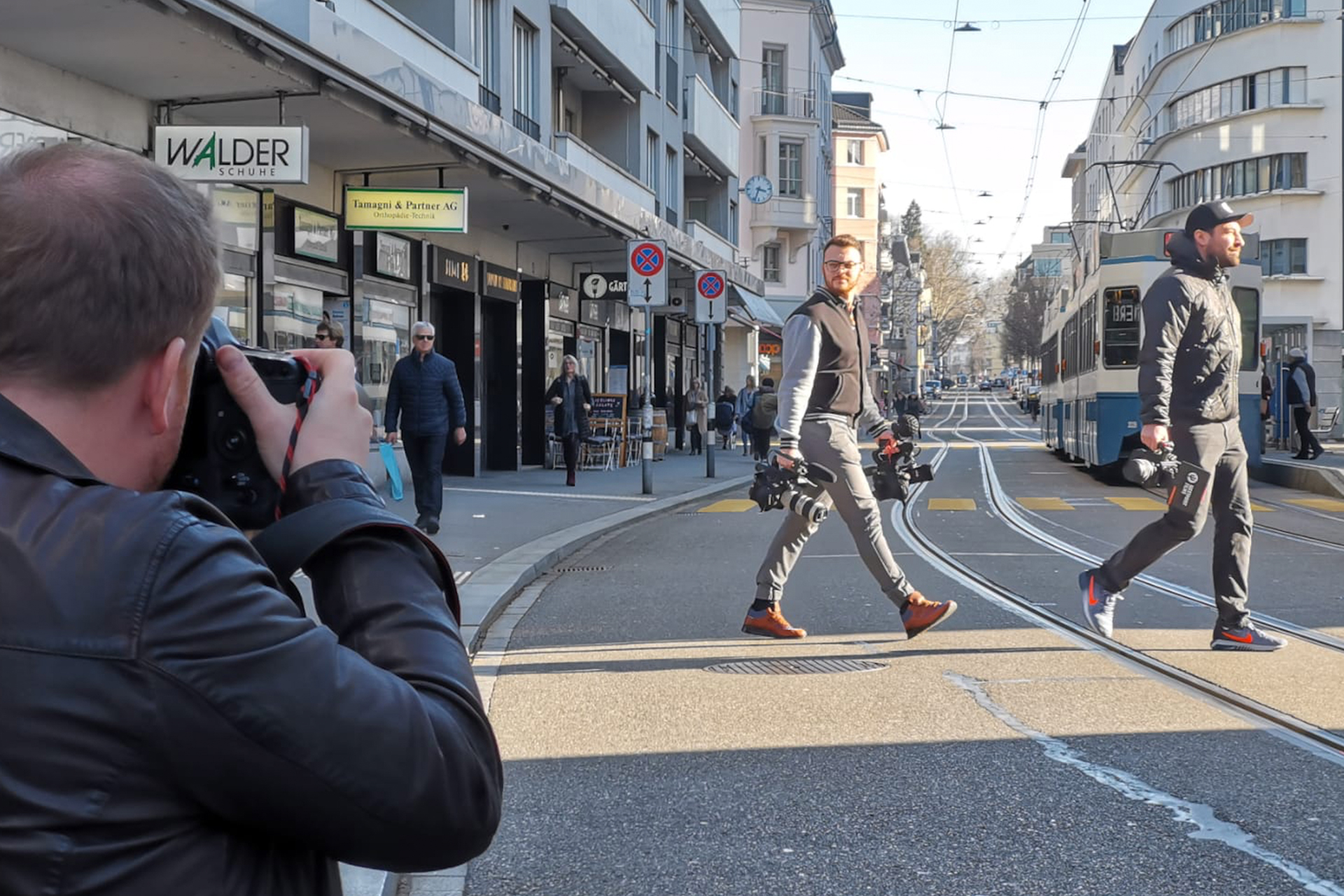 Photo shooting in Zürich Town with Westpoint