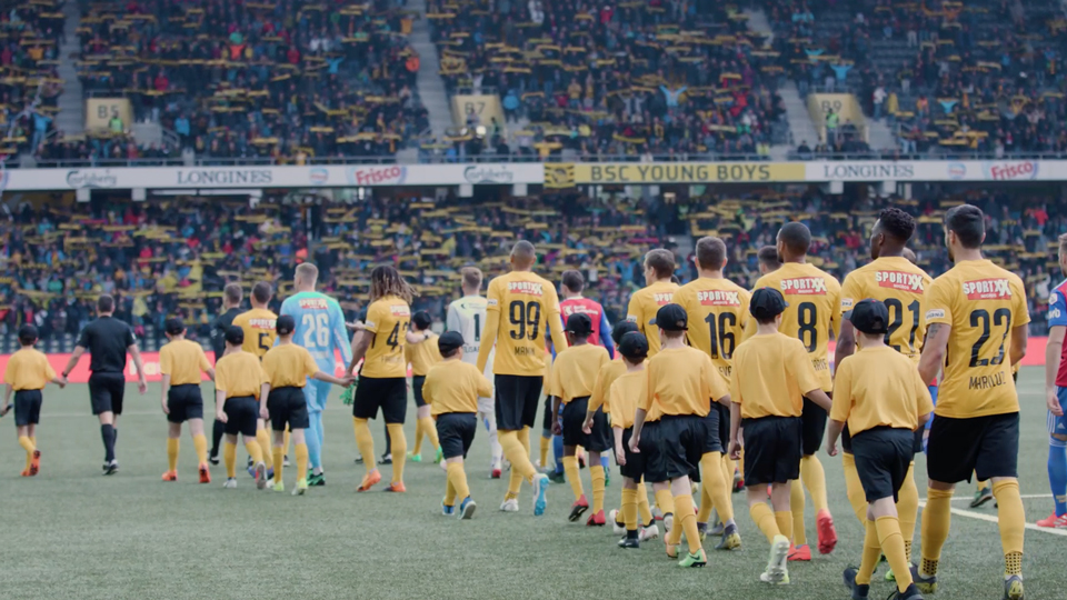 YB Young Boys and FC Basel walk in Stade de Suisse